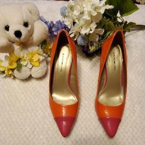 Bandolino orange pointed toes high heeled pumps